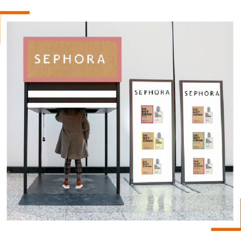 Du Hors Média pour le lancement des parfums DO NOT DRINK par Sephora !